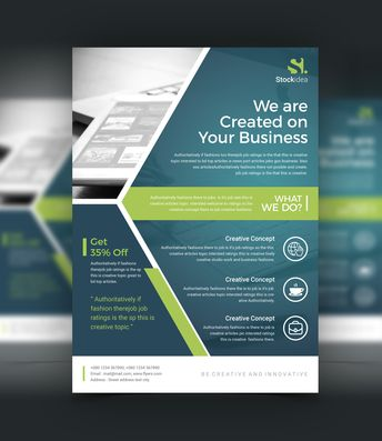 Nova Modern Professional Business Flyer Template - Graphic Templates