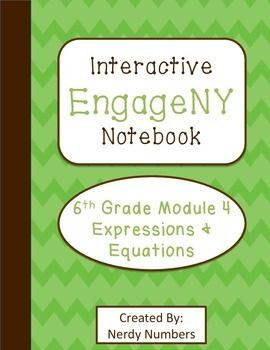 List of attractive interactieve notebooks math 6th grade