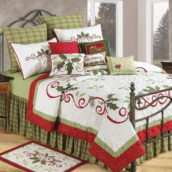 Holiday Garland Cotton Standard Sham (Holiday Garden Standard Sham), Green, C&f Home