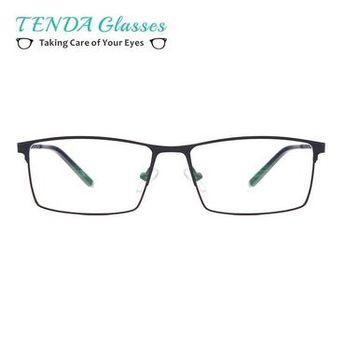 ffdc4ea20939 TendaGlasses Metal Full Rim Glasses Men Rectangle Prescription Eyeglass  Frames For Opticalmodkily