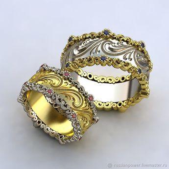 Wedding rings   Купить обручальные кольца Королевские - комбинированный, свадебное  украшение, свадебные украшения, c687da67847