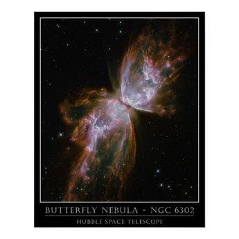 Butterfly Nebula - Hubble Telescope Posters   Zazzle.com