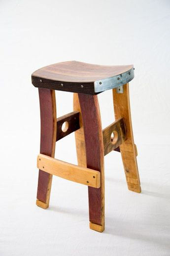 These Fallen Oak Barstools Are Entirely Handmade From Repurposed Wine Barrels Sourced Napa And Surrounding