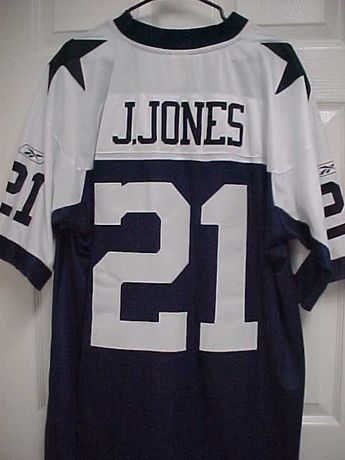 d409d51ae JULIUS JONES 21 Dallas Cowboys Sewn Stitch Navy Blue Throwback Jersey XL  Reebok