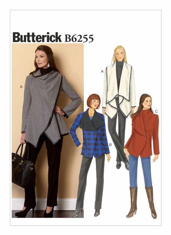 Misses Shawl Collar Jacket and Coat Butterick Sewing Patter