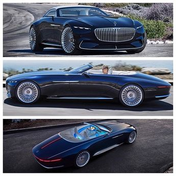 Higher-Res images. Mercedes-Benz debuted the Vision Mercedes-Maybach 6 Cabriolet concept car during the Pebble Beach Concours d'Elegance…