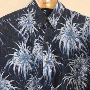 c60fb5ca8 Details about Kahala Mens Christmas Print Hawaiian Shirt Size XL Cotton  Santa Tropical Aloha
