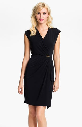Michael Kors Cap Sleeve Faux Wrap Dress Available At Nordstrom