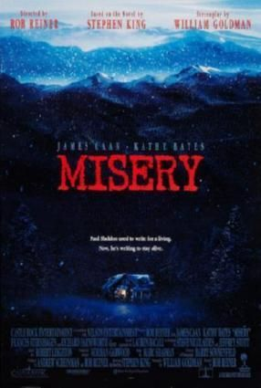 Misery Movie poster Metal Sign Wall Art 8in x 12in