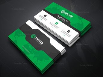 Business Card Template with Futuristic Design 000370 - Graphic Templates