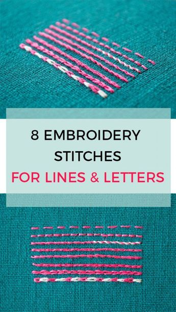 7 alternatives to using back stitch for lines and letters in your embroidery