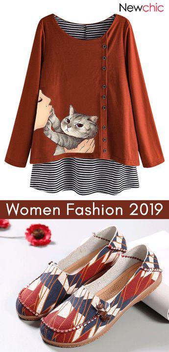 women fashion shirts & shoes. #flatshoes #womenshirts