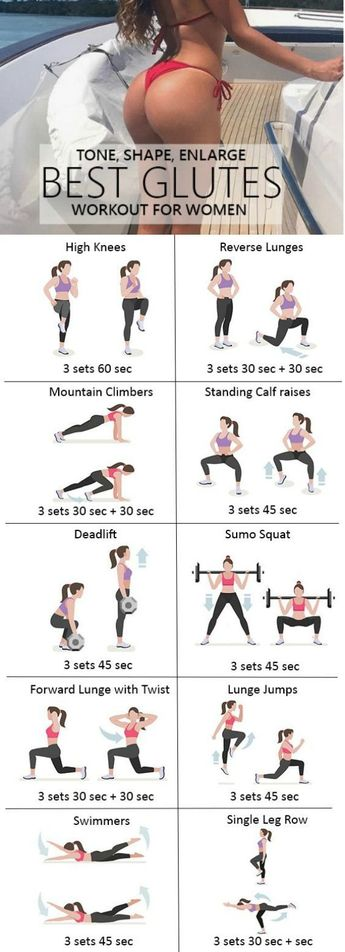 9 Effective Glute Workouts for Women To Tone Firm Lift Tighten + Make Butt Bigger