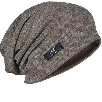 78233230867 FORBUSITE B018 Distressed Stripe Slouch Beanie Skull Cap for Summer Hats  Men s  FORBUSITE