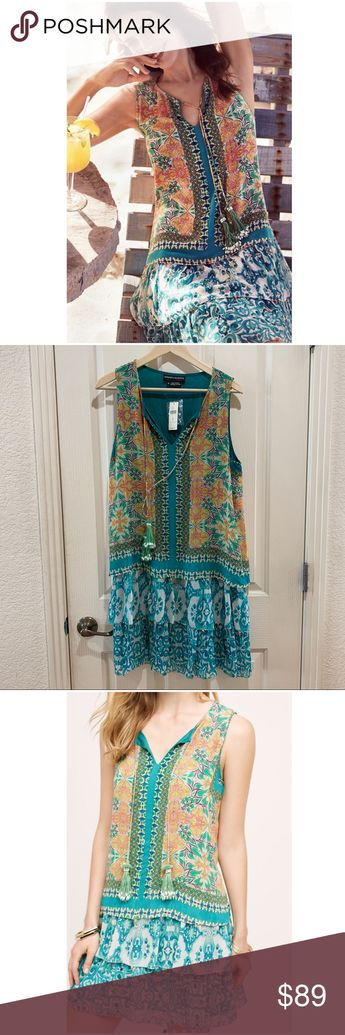 66a41137f168 Anthropologie Moana Silk Dress NWT Medium Summer BNWT brand new with tags  Women's size medium Sky