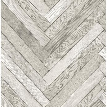 Brewster 8 in. x 10 in. Altadena Light Grey Diagonal Wood Wallpaper Sample