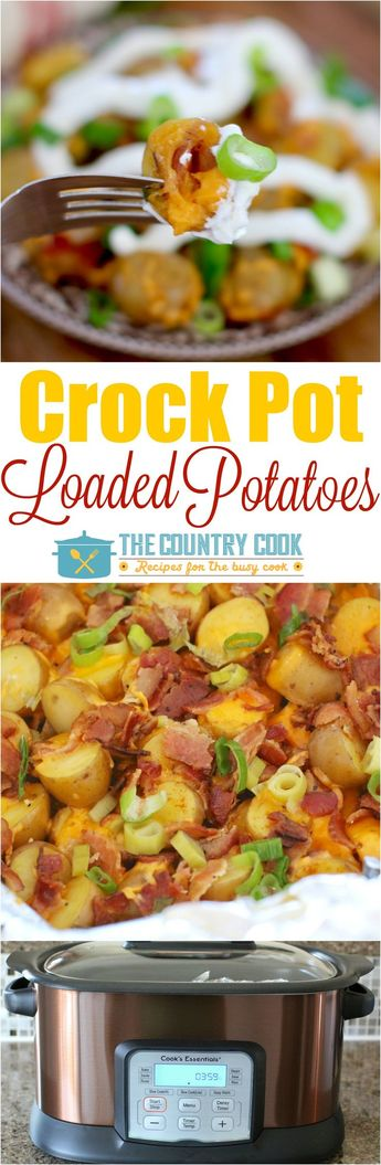 Crock Pot Loaded Little Potatoes recipe at The Country Cook