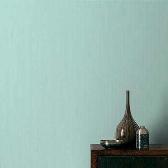 Papier peint SMOOTHIE, expansé sur intissé uni mat, vert d'eau