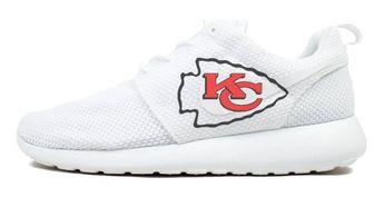 aadbcabb Bandana Fever KC Chiefs Print Custom Nike Roshe Shoes