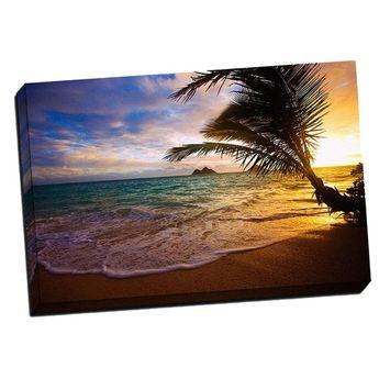 """Lanikai Beach 24"""" x 36"""" x 1.5"""" Canvas Gallery Wrap Photo Print"""