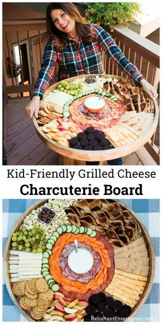 Kid-Friendly Grilled Cheese Charcuterie Board for any sports party birthday party or kid gathering #charcuterie #kidfriendly #epiccheeseboard #grilledcheese #charcuterieboard via Reluctant Entertainer | Sandy