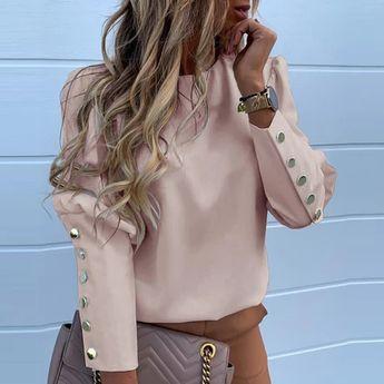 Elegant New Puff shoulder blouse – TopFashionova