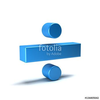 """Download the royalty-free photo """"Divide Math Symbol. 3D Rendering Illustration"""" created by Fotolia365 at the lowest price on Fotolia.com. Browse our cheap image bank online to find the perfect stock photo for your marketing projects!"""