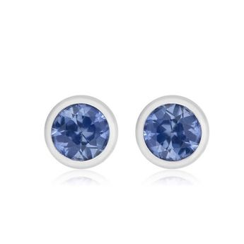 a4ee13ba0 Bloomingdale's Sapphire Bezel Stud Earrings in 14K White G