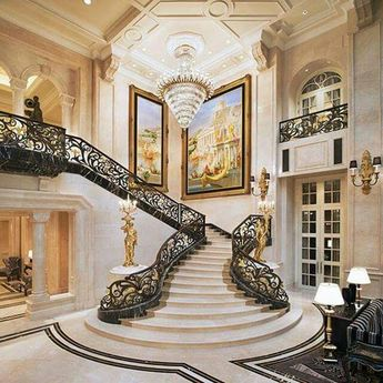 Extravagant palace or huge residence.