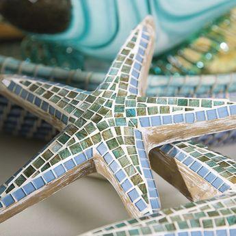 IMAX 95589-3 Mosaic Star Fish Wall Decor Set of 3