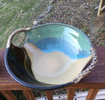Large Turquoise Handled Bowl