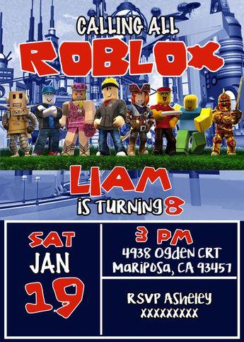 FREE Roblox Birthday Party Printable Files