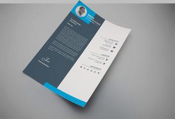 Hades Elegant Professional Resume Design Template - Graphic Templates