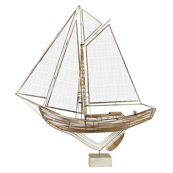 Mid Century Sailboat Sculpture by Curtis Jere