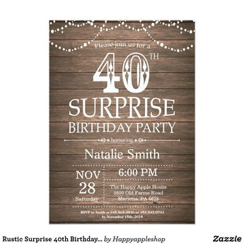 surprise 13th birthday purple and gold diamond invitation
