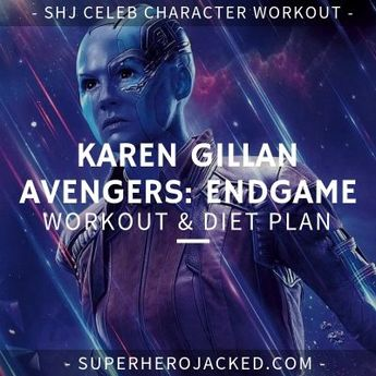 Karen Gillan Avengers: Endgame Workout Routine and Diet Plan