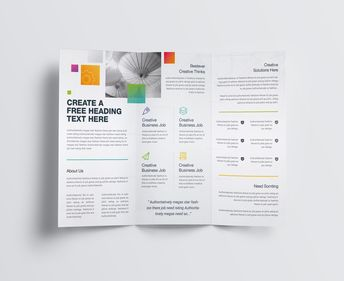 Best Creative Corporate Tri-Fold Brochure Template 001211 - Template Catalog