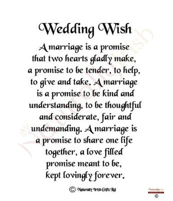 Quotes About Wedding : Wedding Quotes : irish wedding day wish - Google Search