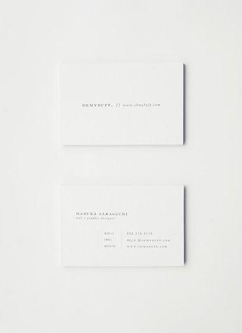 branding, white, business cards, typography, minimal