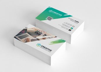 Modern Business Cards , #SPONSORED, #card#CMYK#bleed#Easy #Ad