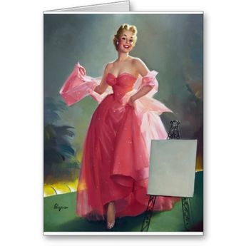 Red Dress Pin Up | Zazzle.com