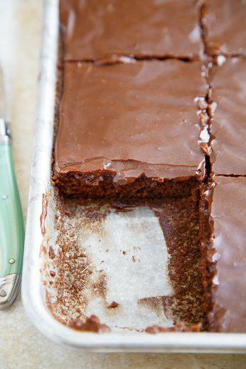 A small recipe for Texas Chocolate Sheet Cake