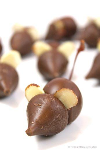 Chocolate Mice Recipe Candy w/Chocolate Covered Cherries