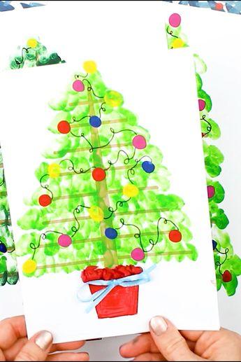 Fingerprint Christmas Tree Art