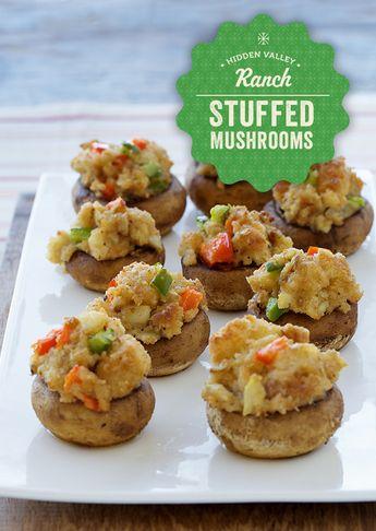 Mini Stuffed Mushrooms