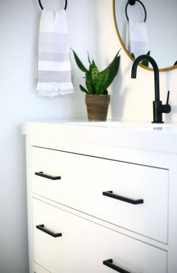 Best bathroom vanity ikea hemnes powder rooms 29 Ideas #bathroom