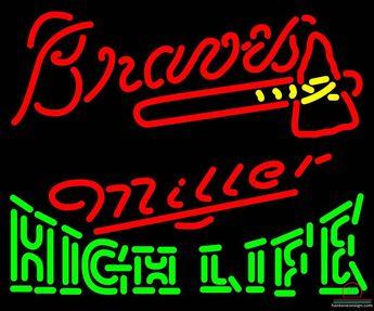 d9f328a4ec Miller High Life Atlanta Braves Neon Sign MLB Teams Neon Light