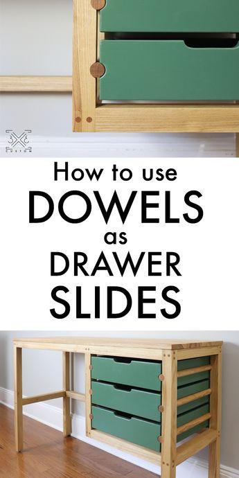 Building a Desk with Dowel Drawer Slides