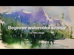 Watercolour Painting Tutorial - Banners Gate, Sutton Coldfield - YouTube