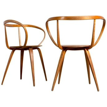 Rare Pair of George Nelson for Herman Miller Pretzel Chairs